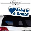 Sticker Bébé à Bord Coeur! - Securité enfant voiture