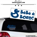 Sticker Bébé à Bord Canard! - Securité enfant voiture