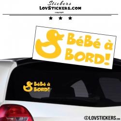 Sticker Bébé à Bord Canard! - Sécurité enfant voiture