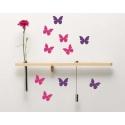 40 Stickers Papillons 3 ou 4cm - Autocollant Serie No1