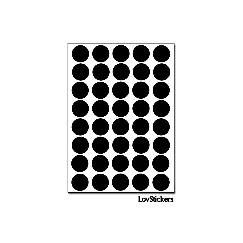 320 Ronds 1,2cm - Gommette Enfants Deco - Repositionnable - Vinyle