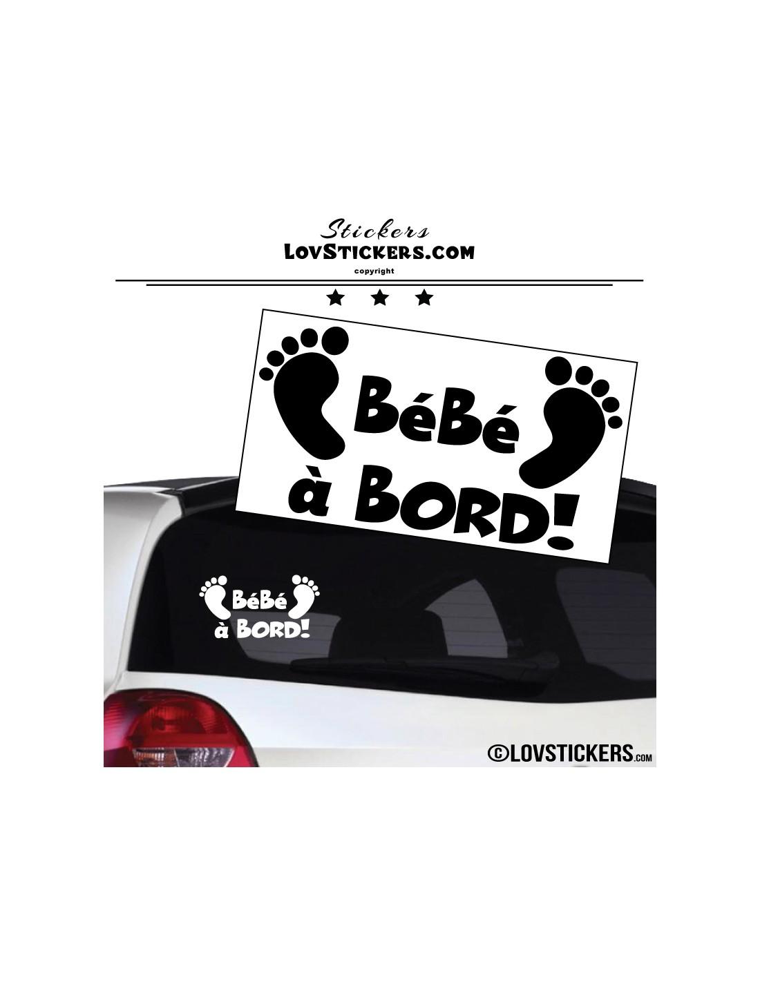 sticker b b bord pieds de b b 2 s curit enfant voiture. Black Bedroom Furniture Sets. Home Design Ideas