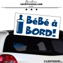 Sticker Bébé à Bord! - Biberon - Securité enfant voiture