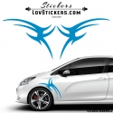 2 Stickers Tribal Tuning Voiture - Stickers Decoration