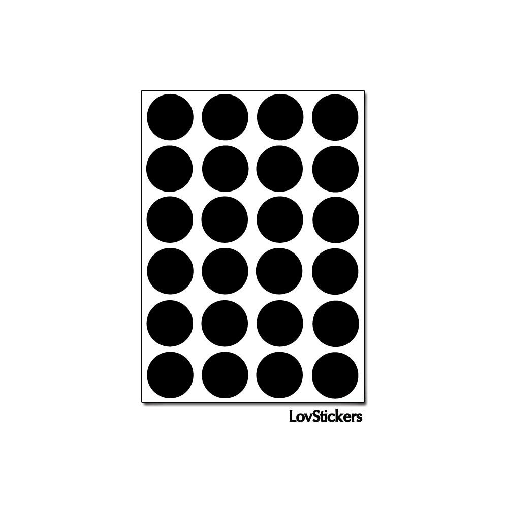 192 Ronds 1,5cm - Gommette Deco - Repositionnable - Vinyle