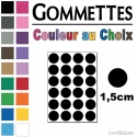 192 Ronds 1,5cm - Gommette Deco - Repositionnable - Vinyle