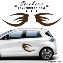 2 Tribal Tuning Voiture - Stickers Deco auto voiture