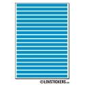 152 Stickers Ligne 0,4cm - Décoration Gommette Loisirs - Vinyle Repositionnable
