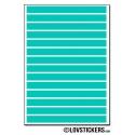 112 Stickers Ligne 0,6cm - Décoration Gommette Loisirs - Vinyle Repositionnable