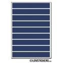 72 Stickers Ligne 1cm - Décoration Gommette Loisirs - Vinyle Repositionnable