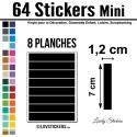 64 Stickers Ligne 1,2cm - Décoration Gommette Loisirs - Vinyle Repositionnable