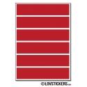 40 Stickers Ligne 2cm - Décoration Gommette Loisirs - Vinyle Repositionnable