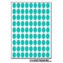 648 Stickers Ovale 1cm - Décoration Gommette Loisirs - Vinyle Repositionnable