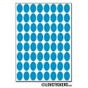 512 Stickers Ovale 1,2cm - Décoration Gommette Loisirs - Vinyle Repositionnable