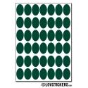 336 Stickers Ovale 1,5cm - Décoration Gommette Loisirs - Vinyle Repositionnable