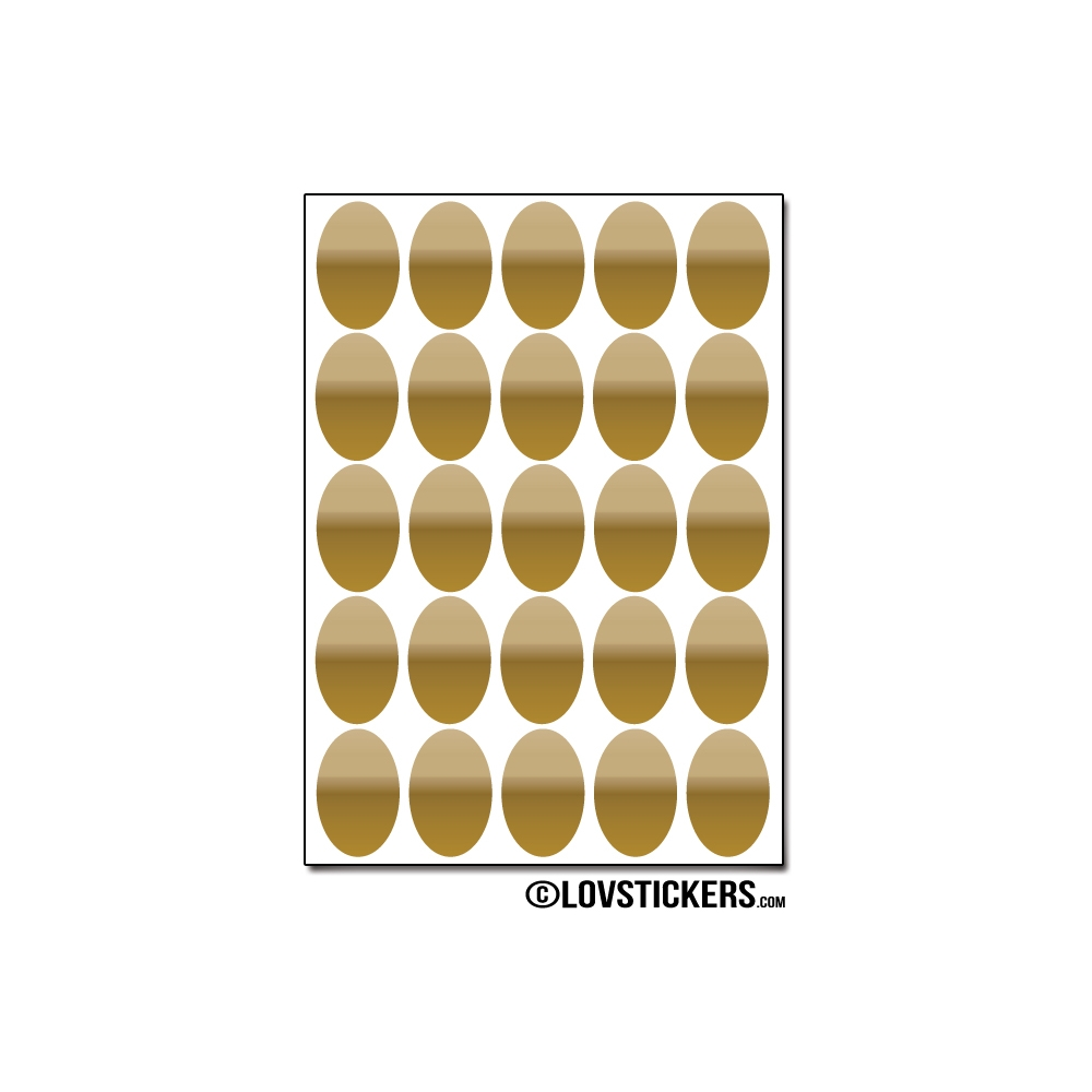 200 Stickers Ovale 2cm - Décoration Gommette Loisirs - Vinyle Repositionnable