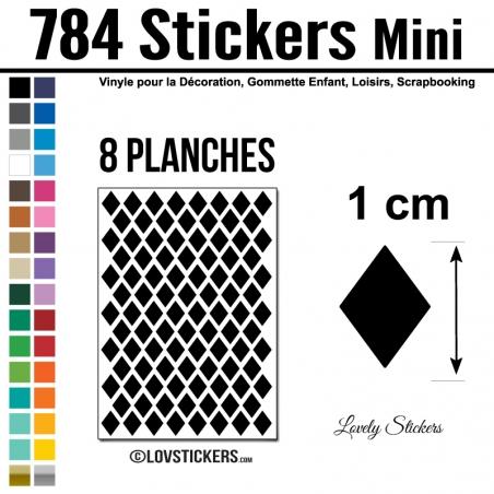 784 Stickers Losange 1cm - Décoration Gommette Loisirs - Repositionnable