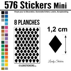 576 Stickers Losange 1,2cm - Décoration Gommette Loisirs - Repositionnable