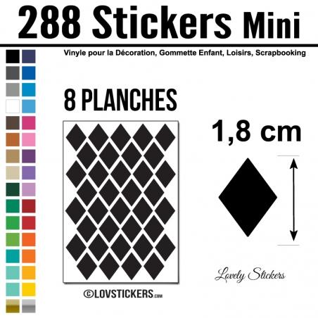 288 Stickers Losange 1,8cm - Décoration Gommette Loisirs - Repositionnable