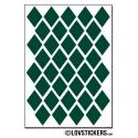 288 Stickers Losange 1,8cm - Décoration Gommette Loisirs - Vinyle Repositionnable