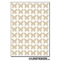432 Stickers Papillon 1cm - Décoration Gommette Loisirs - Vinyle Repositionnable
