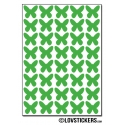 320 Stickers Papillon 1,2cm - Décoration Gommette Loisirs - Vinyle Repositionnable
