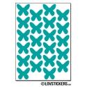 176 Stickers Papillon 1,6cm - Décoration Gommette Loisirs - Vinyle Repositionnable