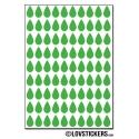 720 Stickers Goutte d'eau 1cm - Décoration Gommette Loisirs - Vinyle Repositionnable