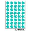 320 Stickers Fleur 1,2cm - Décoration Gommette Loisirs - Vinyle Repositionnable