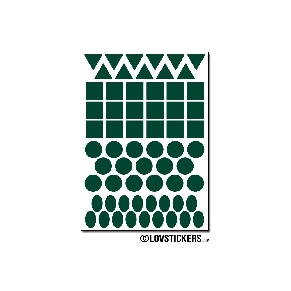 504 Stickers Mixte 1cm - Décoration Gommette Loisirs - Vinyle Repositionnable