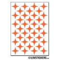 312 Stickers Etoiles 1,5cm - Décoration Gommette Loisirs - Vinyle Repositionnable