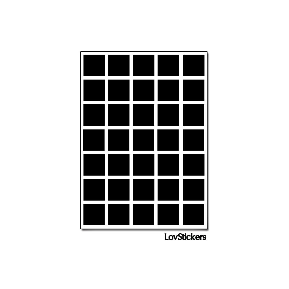 280 Carrés 1,2cm - Gommette Deco - Repositionnable - Vinyle