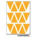120 Triangles 2 cm - Modèle No2 - Gommette Triangle Deco Repositionnable en Vinyle