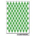 720 Stickers Losange 1,2cm - Décoration Gommette Loisirs - Vinyle Repositionnable