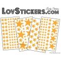 200 Stickers Etoiles - Autocollant decoration