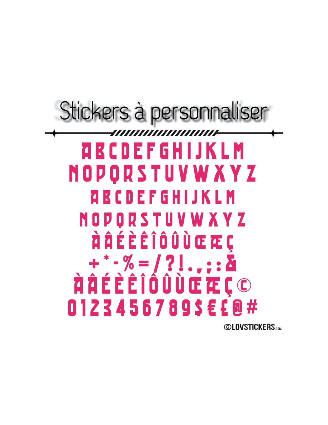 ... Stickers Font Trad   2 Lettres Et Chiffres Adhesif   Autocollant  Voiture Auto Vitrine Magasin ...