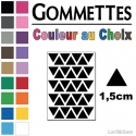 280 Triangles 1,5cm - Gommette Triangle Deco Repositionnable en Vinyle