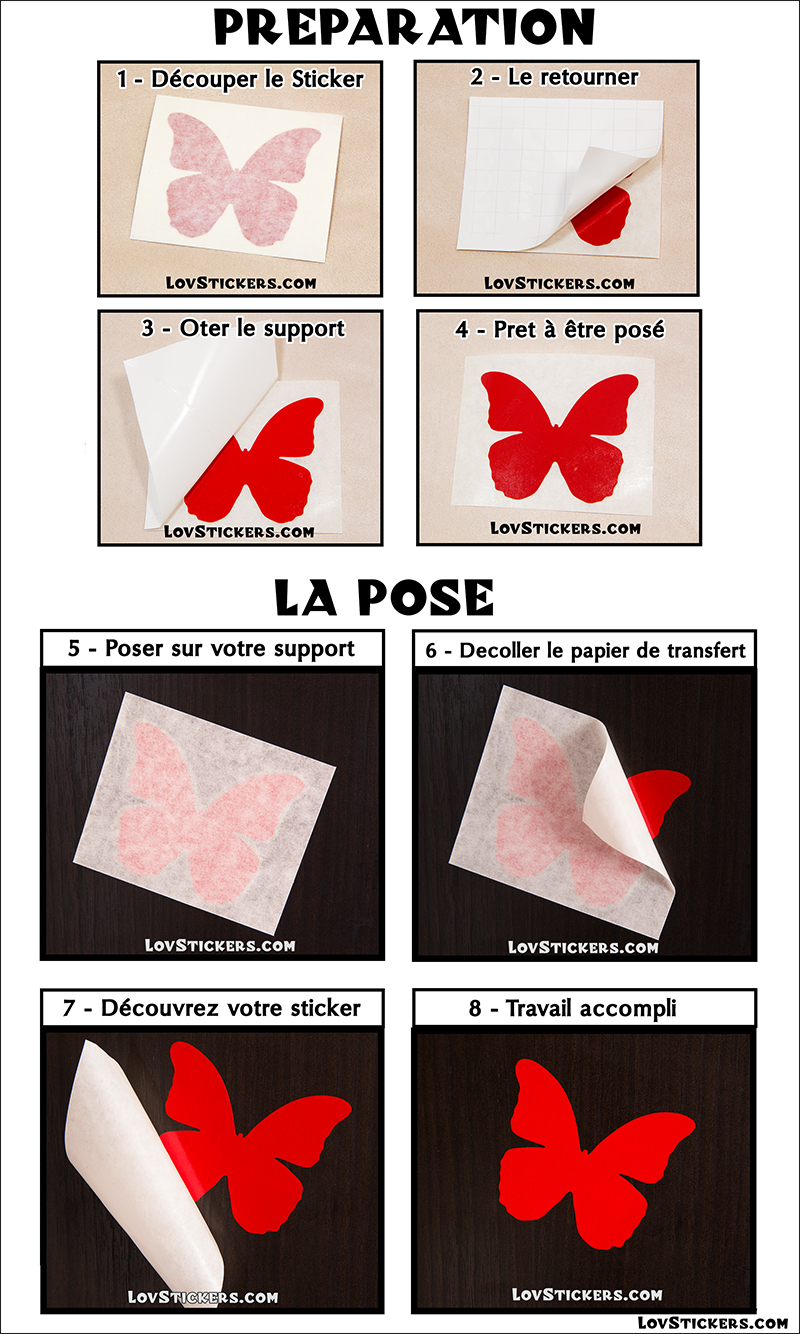Guide tuto pose stickers vinyle