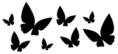 Autocollant de papillons
