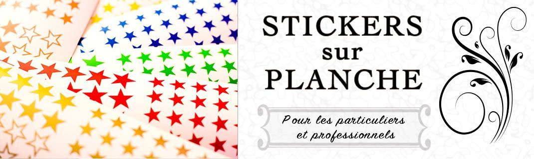 Nombreuses formes pour nos stickers en planche pour une utilisation professionnel ou à la maison